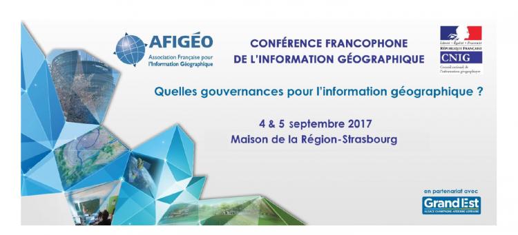Alkante partenaire de la Conférence francophone de l'information géographique du 4 & 5 septembre